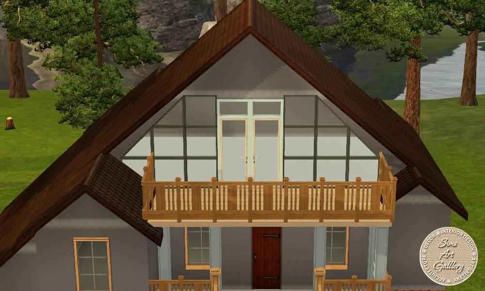 Как построить красивый стартовый домик в симс 3.